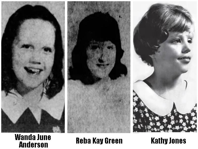Wanda June Anderson, Reba Kay Green and Kathy Jones