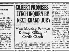Cordie Cheek's lynching