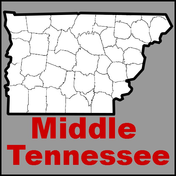 Counties in Middle Tennessee